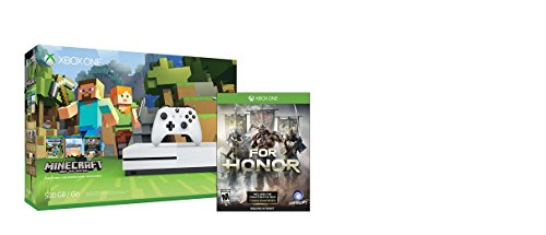 Xbox One S 500GB Console – Minecraft Bundle + For Honor