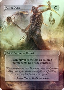 All Is Dust - Casual Play Only - Customs Altered Art Foil