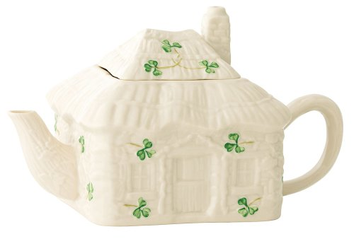 Belleek 2796 Irish Cottage Teapot