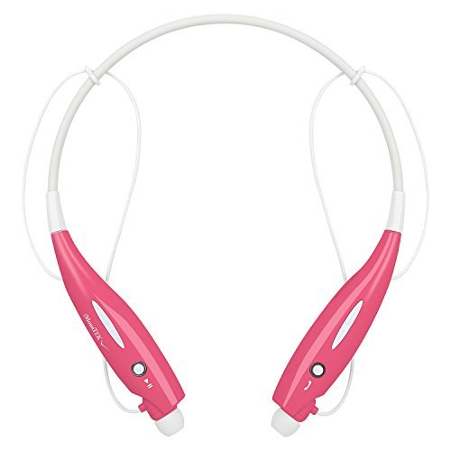 US Shipping Pink Wireless Running Sports Bluetooth Headphones Headset Stereo (Nrg Rechargeable Battery Kit)