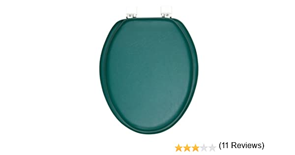 dark green toilet seat. Ginsey Solid Hunter Green Padded Elongated Toilet Seat  Soft Amazon com