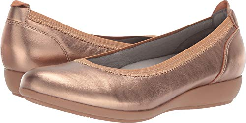 Round Collar Womens Coat - Dansko Women's Kristen Ballet Flat Rose Gold Nappa Size 42 Regular EU