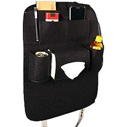 Universal Car Multi-Pockets Storage Bag Back Seat Organizer Backseat Bag Holder Car-Styling Protector Auto Accessories. Black
