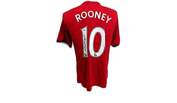wayne roney manchester united dc united signed red jersey beckett