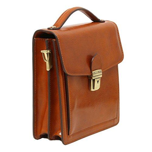 Tuscany Leather - David - Sac bandoulière en cuir pour homme - Petit modèle - Miel