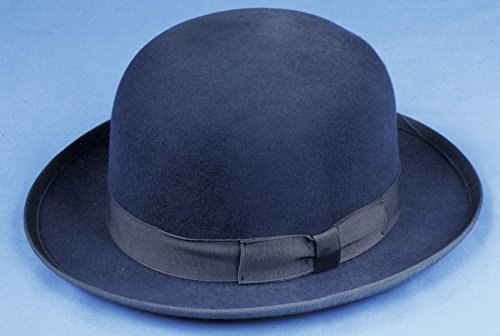 Scala Men's Wool Felt Derby Hat, Black, Large -