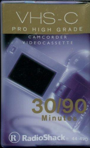 VHS-C Pro High Grade Camcorder Videocassette 30/90 Minutes