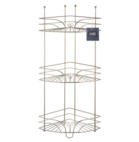AMG and Enchante Accessories Free Standing Bathroom Spa Tower Floor Caddy, FC231-A SNI, Satin Nickel by AMG (Image #8)