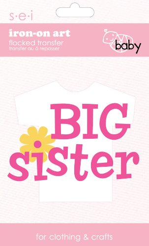 (SEI 3.35-Inch by 5-Inch Big Sister Iron on Transfer, 1 Sheet)