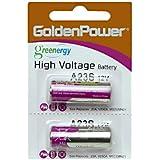 【12Vアルカリ乾電池】単5/2個セット【キーレスエントリー用】23AE/23A/A23/V23GA/MN21リモコン/カーセキュリティー/12ボルト電池