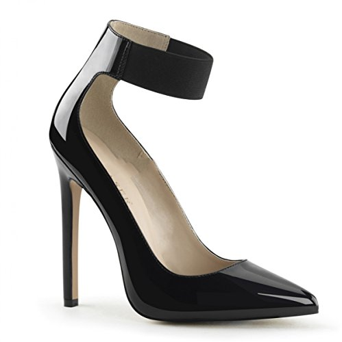 negro vestir Sintético mujer Pleaser Negro Material de Zapatos de para qxCx7gzwU