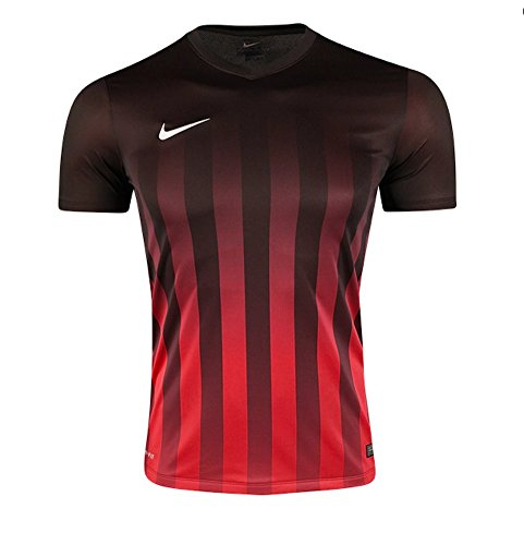 NIKE Kids' Striped Division Soccer Jersey (Sz. Youth Large) Red, Black by NIKE