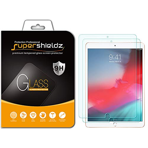 (2 Pack) Supershieldz for Apple iPad Air 10.5 inch (2019 Model - 3rd Generation) and iPad Pro 10.5 inch Screen Protector - (Tempered Glass) Anti Scratch - Bubble Free