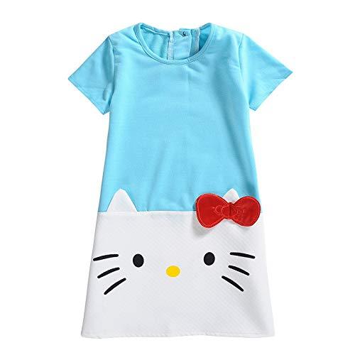 Lalaland12 Girls Dresses - Baby Girls Dresses Hello Kitty 2018 Brand Children Dresses for Girls Princess Dress Christmas Kids Clothes 1 PCs