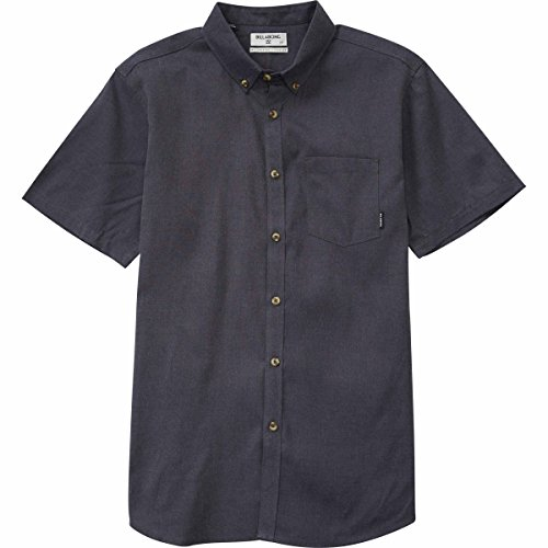 (Billabong Men's All Day Oxford Short Sleeve Top, Black, M)