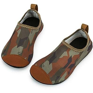Crova Kids Water Shoes Quick Dry Aqua Socks Non-Slip Barefoot Sports Shoes for Boys Girls Toddler Green Size: 1.5-2 Little Kid
