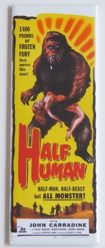 Half Human Movie Poster Fridge Magnet (1.5 x 4.5 inches)