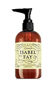 Natural Intimate Personal Lubricant for Sensitive Skin, Isabel Fay - Water Based, Discreet Label - Best Personal Lube for Women and Men – Made in USA – Natural Personal Gel Without Glycerin (8 Oz)