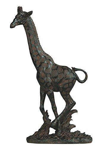 StealStreet SS-G-54455 Antique Finish Running African Giraffe Decorative Figurine (Running Giraffe)