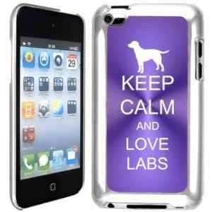 Apple iPod Touch 4 4G 4th Generation Purple B2292 hard back case cover Keep Calm and Love Labs