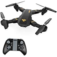 LeaningTech XS809W WiFi FPV Foldable RC Quadcopter with Camera 10 Minutes, 2.4GHz 6-Axis Gyro Remote Control Drone Gravity Sensor Altitude Hold Headless Function