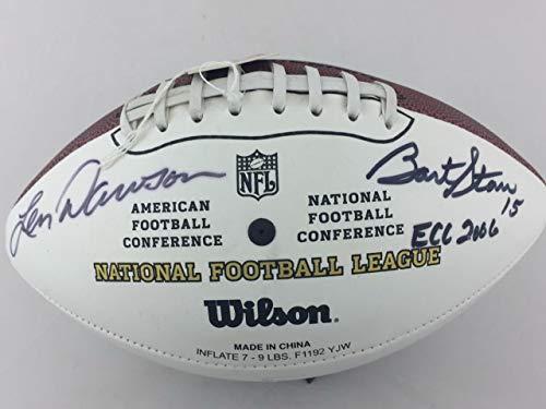 - Bart Starr & Len Dawson Autographed Signed Football Memorabilia - JSA Authentic