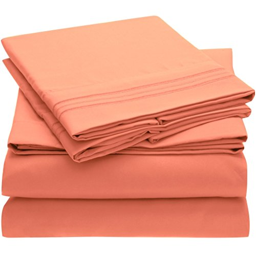 Coral Color Bedding: Amazon.com