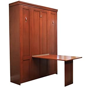 Queen Table Face Maple Wood Murphy Bed (TC)