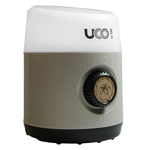 UCO Rhody 130 Lumen Hang-Out Camping Lantern with Infinity Dial Variable Brightness and Quick-Connect Magnetic Hanging System