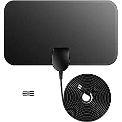 Indoor TV Antenna-Digital HDTV Television Antenna 50 Mile Range 4K 1080P HD VHF UHF Freeview Local Channels and Programming for All Type of Television,No Amplifer