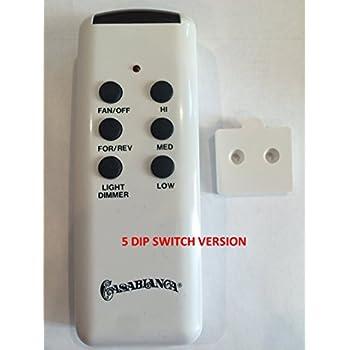 Amazing Casablanca Ceiling Fan Remote Control CHQ8BT7053T