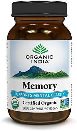 ORGANIC INDIA Memory Boost, 90 Veg Capsules