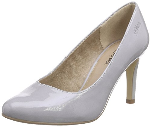 s.Oliver 22401 Damen Pumps Grau (GREY PATENT 215)