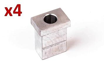 4x Metal Wheel Leg Insert Block for HENNY PENNY  Pressure chicken Fryer