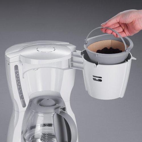 Severin KA 4030 - Cafetera eléctrica con temporizador para 10 tazas (1000 W), color blanco y gris