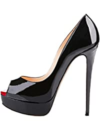 Women's Sexy High Heels Peep Toe Slip On Platform Pumps Stiletto Dress Party Wedding Shoes