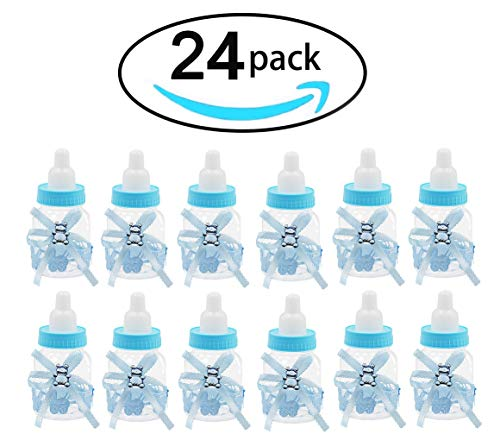 Noex Direct 24 PCS Baby Shower Favor Mini Candy Bottle Gift Box Girl Baby Birthday Parties Decoration ()