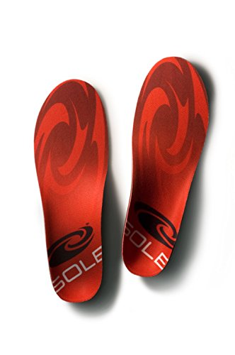 Sole Unisex Softec Regular Insole, Red/Grey, Men's 4.5-5 M/Women's 6.5-7 M US