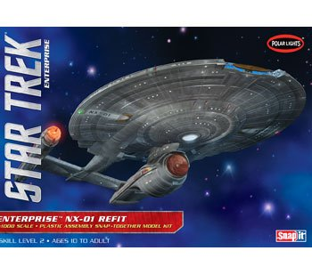 UPC 849398002025, Polar Lights POL898/12 1/1000 Star Trek NX-01 Refit