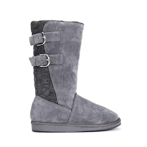 MUK LUKS Women's Jean Boots - Grey