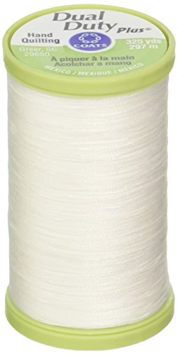 Bulk Buy: Coats & Clark Dual Duty Plus Hand Quilting Thread 325 Yards White S960-0100 (3-Pack) ()