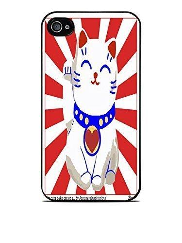 Lucky Cat Black Hardshell Case for iPhone 4 / 4S