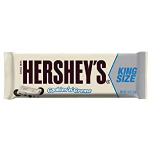 HERSHEY'S Cookies 'n' Crème Candy Bar (King Size, 2.6-Ounce, Pack of 18)