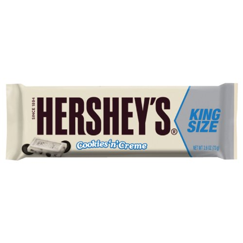 HERSHEY'S Cookies 'n' Creme Candy Bar, King Size (Pack of 18)