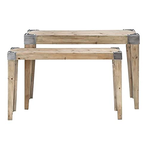 Bon Deco 79 Classic Wooden Console Table With Soothing And Warm Effect, Brown