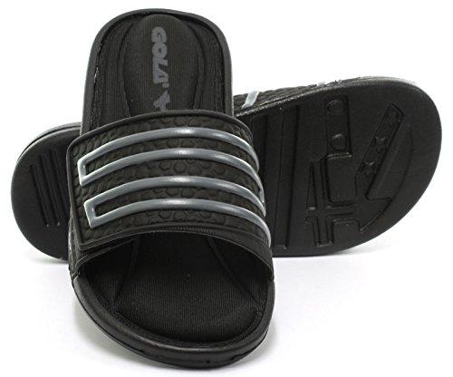 Gola Sonoma Velcro Black Mens Beach/Pool/Shower Slide Sandals, Size 15