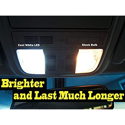14Pcs Super Bright White 6000K Interior LED Light Bulb Kit Package Compatible for 2004-2014 Toyota Sienna: Automotive