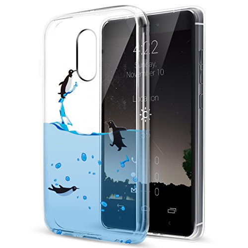 Price comparison product image Xiaomi Redmi Note 4 Case,ikasus Ultra Thin Soft TPU Case,Ultra Clear Art Panited Soft Silicone Rubber Case,Crystal Clear Soft Silicone Back Cover for Xiaomi Redmi Note 4,Swimming Penguins