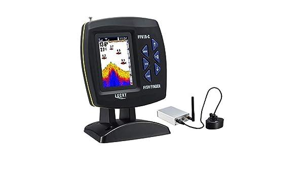 fghdf Operación FF918CWLS inalámbrica Echo Buscador de detección de los Peces Detector de 980 pies: Amazon.es: Deportes y aire libre