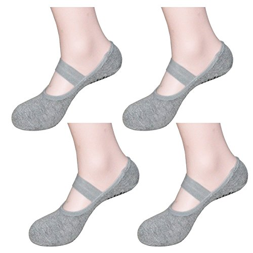8fb39c06c Women s Ballet Style No Show Low Cut Hospital Slipper Socks Great for Barre  Pilates Yoga with